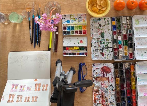 Paint Pots sketch book