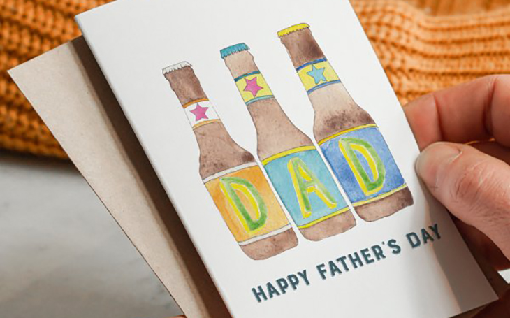 Happy Fathers Day Beer Bottle Card