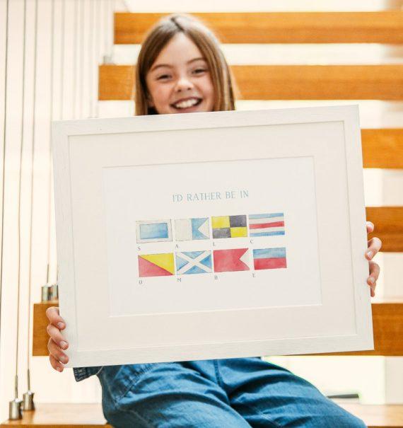 sailing flags print