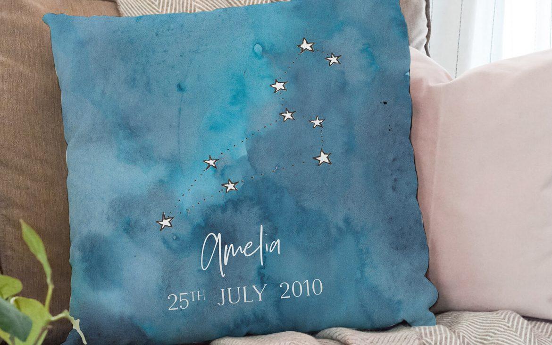 New baby constellation cushion