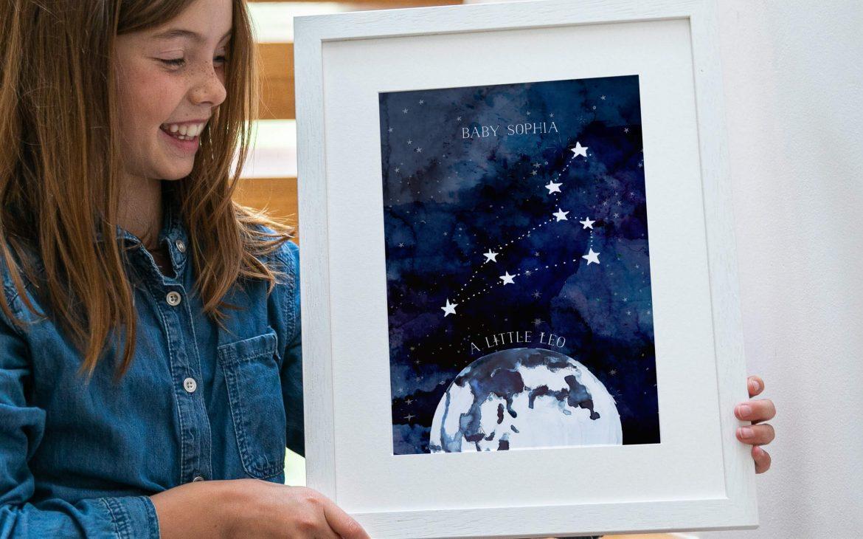 New baby constellation print