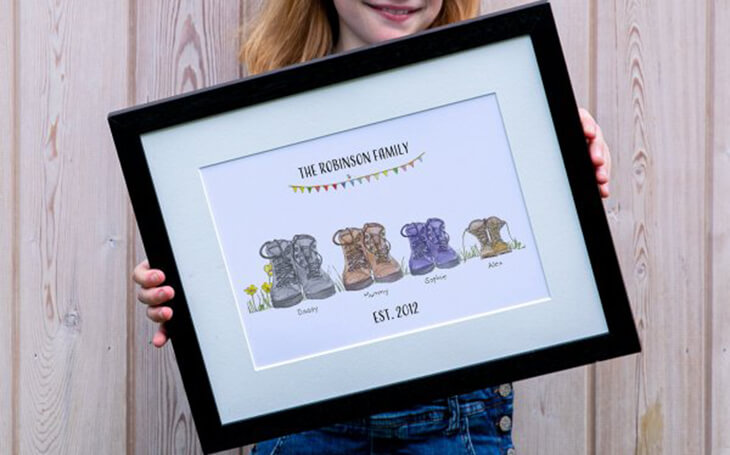 Walking Boots Family Print