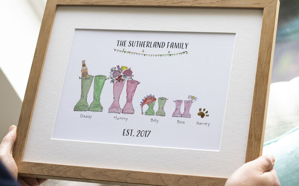 Original Welly Boots Print