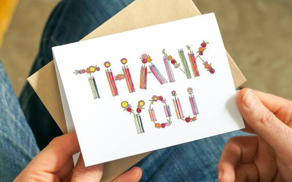 Crayon and Floral Lettering Thank You Teacher Card