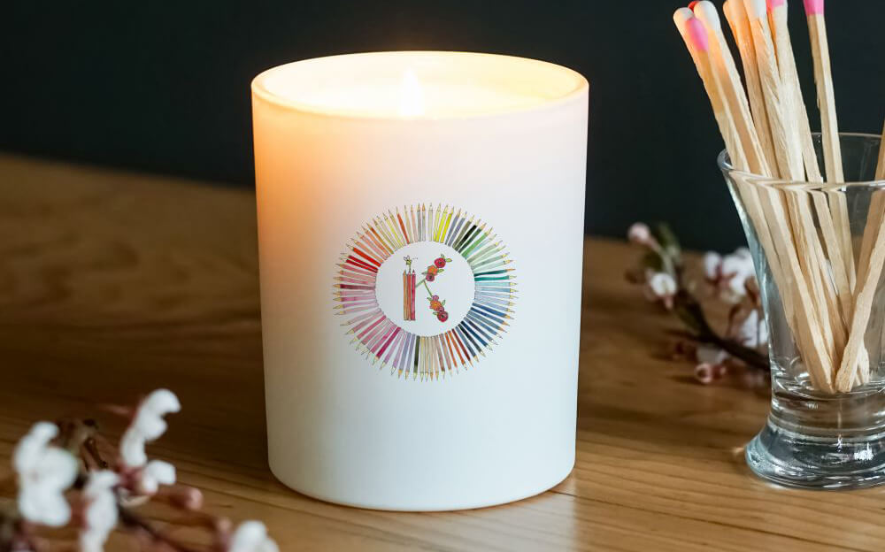 Thank You Teacher Initial Glass Candle