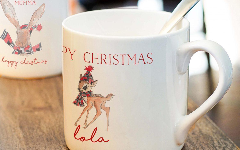 Woodland Animals Christmas Mug