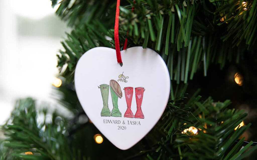 Couples Welly Boot Christmas Decoration