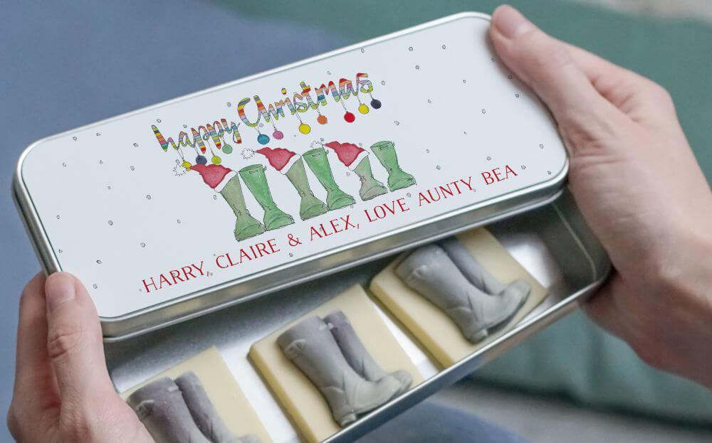 Christmas Chocolate Tin