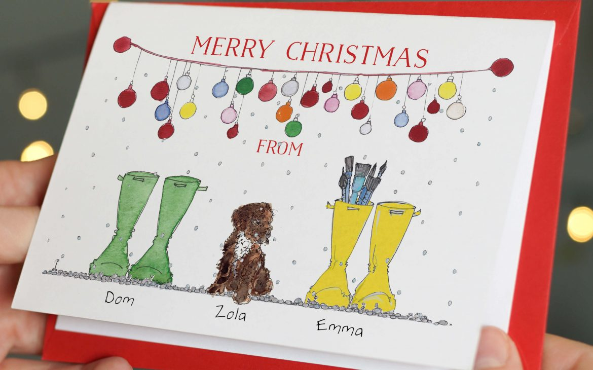 Puppy Parents Pack of Christmas Cards