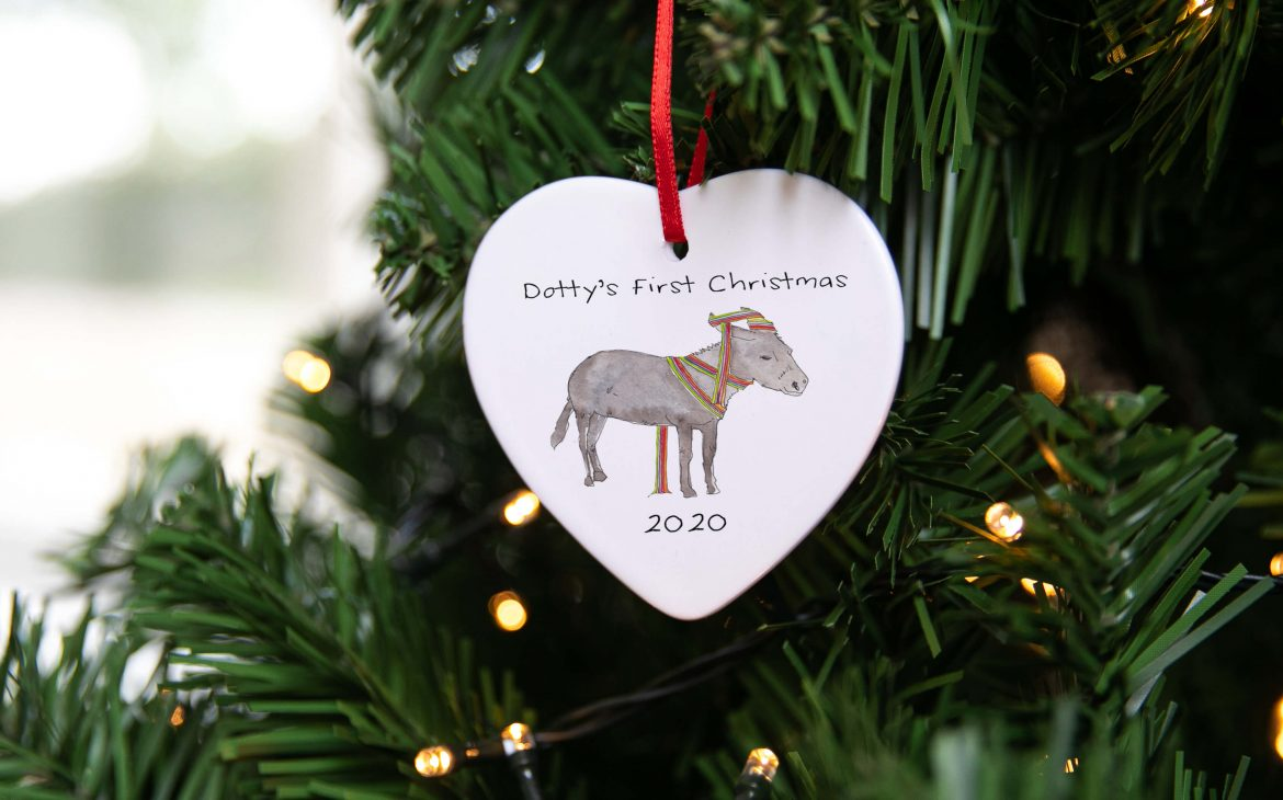 Baby's First Christmas Animal Hanging Ceramic Decoration