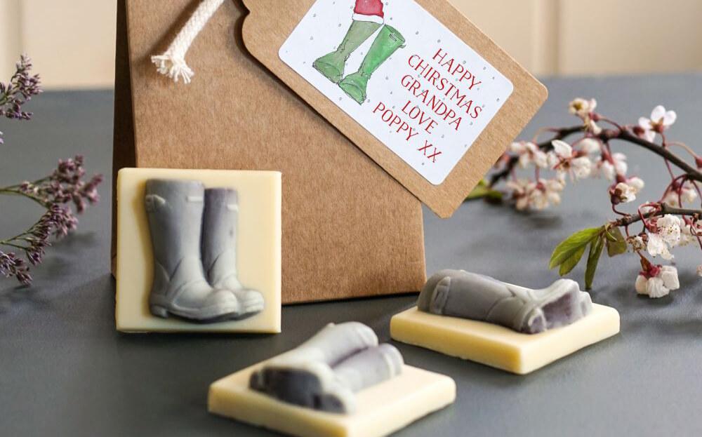 Christmas Wellies Chocolate Gift Set