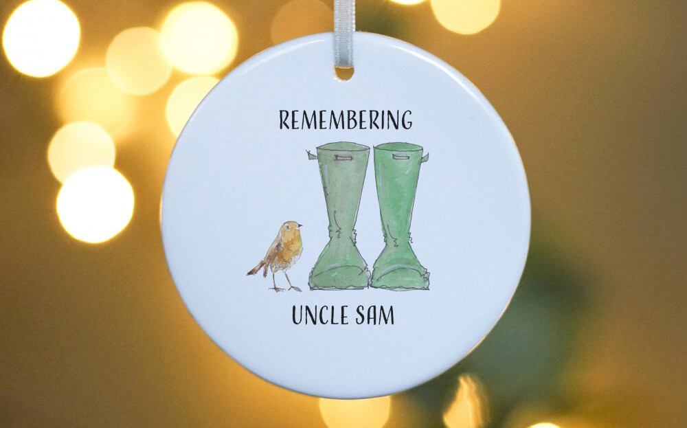 Robin Welly Boot Hanging Decoration