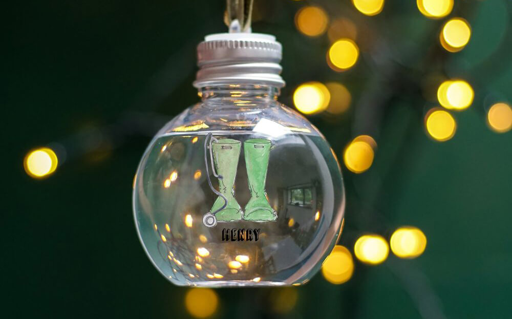 Welly Boot Gin Bauble